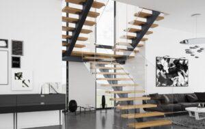 Металлические лестницы на одном косоуре, фото №16
