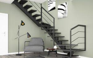 Металлические лестницы на одном косоуре, фото №17