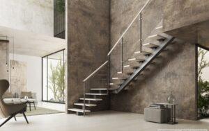 Металлические лестницы на одном косоуре, фото №18
