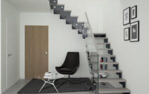 Металлическая лестница на косоурах, фото №2