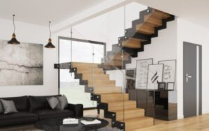 Металлическая лестница на косоурах, фото №4