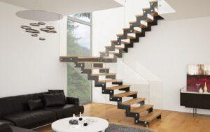 Металлическая лестница на косоурах, фото №6