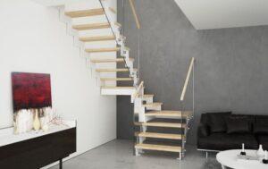 Металлическая лестница на косоурах, фото №7