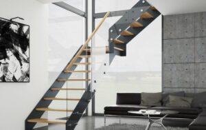 Лестница на металлических тетивах, фото №7
