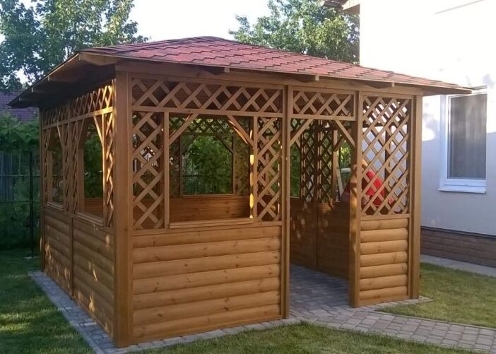 Популярная деревянная беседка «Садовая»