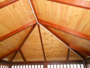 Вид крыши снизу