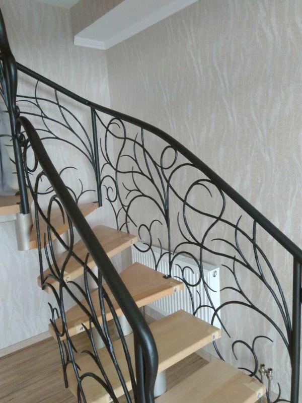 Металлические перила, кованые перила на лестницу арт. 2.0